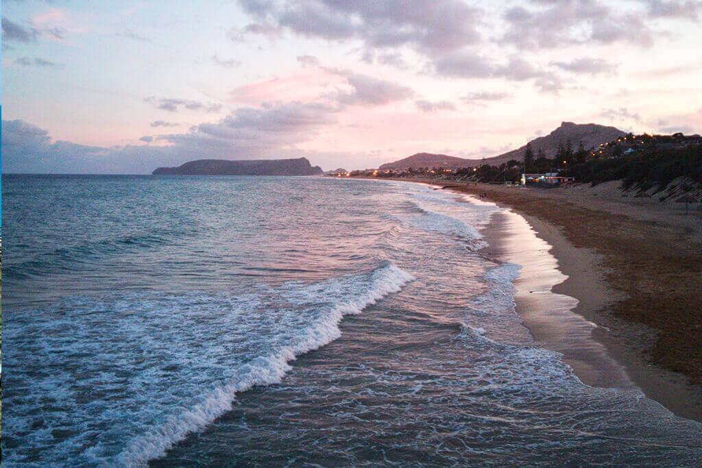 Sunset na praia do Porto Santo